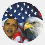 President Barack Obama, Visions & Dreams_ Classic Round Sticker