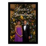 President Barack Obama w/ Michelle Christmas Cards