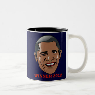 President Barack Obama Winner 2012 Two-Tone Coffee Mug
