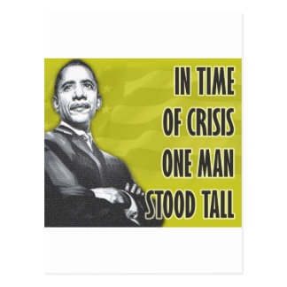 President Barack Obama Yellow Postcard