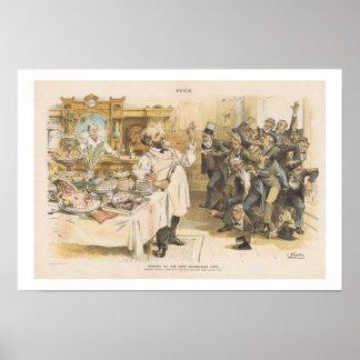 President Benjamin Harrison, Republican, 1889 Poster
