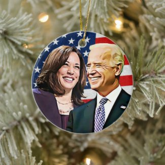 President Biden and VP Harris Keepsake Ceramic Ornament