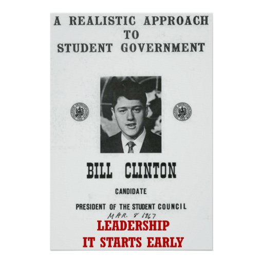 bill clinton and leadership essay Presidents ronald reagan and bill clinton were both two termed presidents who were known to have had very favorable ratings during their presidencies.