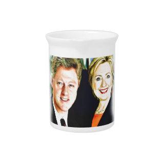 President Bill Clinton & President Hillary Clinton Drink Pitchers