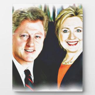 President Bill Clinton & President Hillary Clinton Plaque