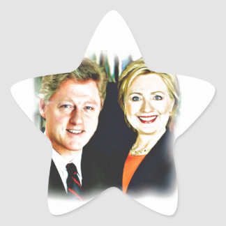 President Bill Clinton & President Hillary Clinton Star Sticker