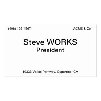 President Double-Sided Standard Business Cards (Pack Of 100)