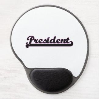 President Classic Job Design Gel Mouse Pad