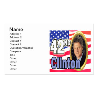 President Clinton Double-Sided Standard Business Cards (Pack Of 100)
