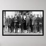 President Coolidge and Herbert Hoover 1923 Poster