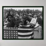 President Coolidge World Series Baseball 1924 Print