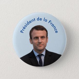 Président de la France Emmanuel Macron Pinback Button