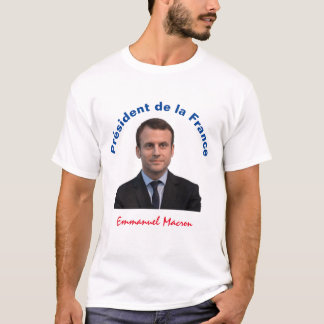 Président de la France Emmanuel Macron T-Shirt
