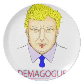 President Demagogue Melamine Plate