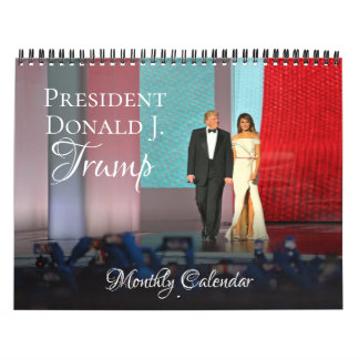 President Donald Trump 2018 Calendar Monthly Wall