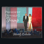 "President Donald Trump 2019 Calendar Monthly Wall<br><div class=""desc"">Celebrate patriotism and American pride with this President Trump 2019 Wall Calendar. Makes a lovely gift for a Trump supporter or proud Patriot! Features full-color photos of Donald Trump and First Lady Melania Trump and first family during various events during the course of the year. Each month's image has been...</div>"