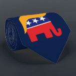 "President Donald Trump GOP Elephant Hair Neck Tie<br><div class=""desc"">GOP Elephant Logo with Iconic Donald Trump Hair.   Copyright 2015 www.TrumpCentral.org</div>"