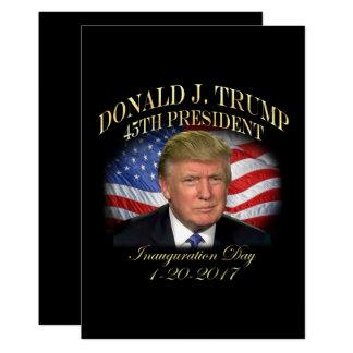 President Donald Trump Inauguration Commemorative Card