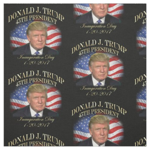 President Donald Trump Inauguration Commemorative Fabric