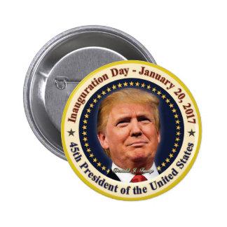 President Donald Trump Inauguration Day Souvenir Button