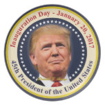 President Donald Trump Inauguration Day Souvenir Plate