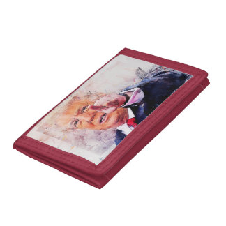 President Donald Trump Trifold Wallet