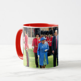 President Donald Trump With Queen Elizabeth Mug