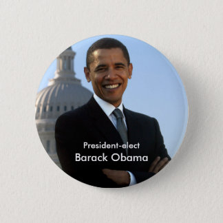 President Elect - Barack Obama Buton Button