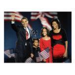 President-Elect Obama & Family Postcard