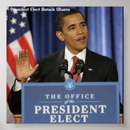 President Elect Obama Poster