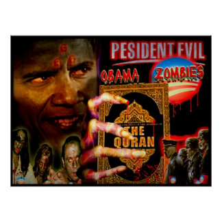 President Evil and the Obama Zombies Poster