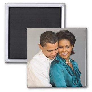 President & First Lady Obama 2 Inch Square Magnet