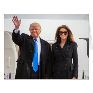 President & First Lady Trump Card
