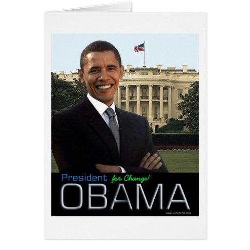 """""""President for Change"""", by Al Stewart Greeting Cards"""