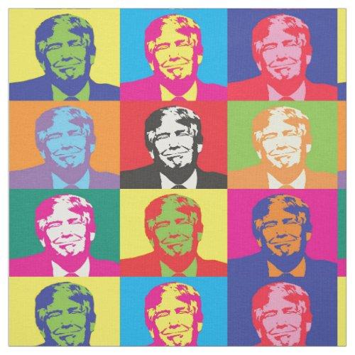 President funny Donald Trump of America. Pop art Fabric