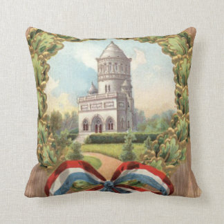 President Garfield's Tomb Wreath Throw Pillow