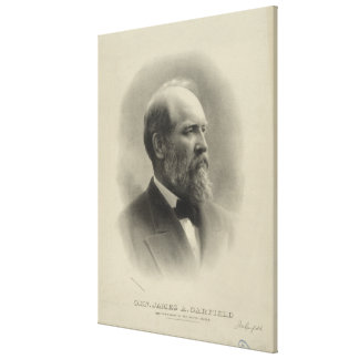 PRESIDENT GENERAL JAMES A. GARFIELD Portrait Canvas Print