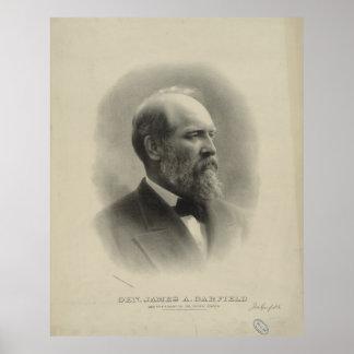 PRESIDENT GENERAL JAMES A. GARFIELD Portrait Poster