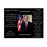 President George HW Bush Postcard
