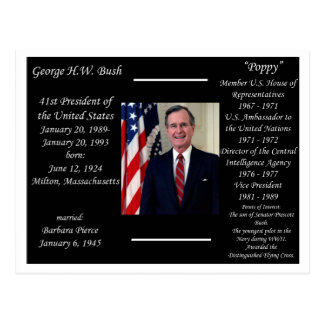 President George HW Bush Postcard