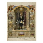 President George Washington as a Freemason Postcard