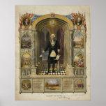 President George Washington as a Freemason Posters