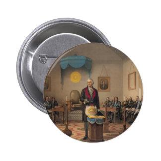President George Washington as a Master Mason Button