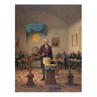 President George Washington as a Master Mason Postcards