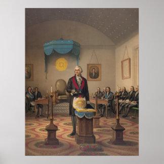 President George Washington as a Master Mason Poster