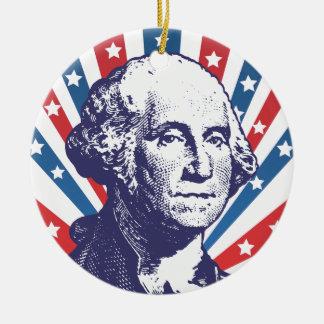 president George Washington Ceramic Ornament