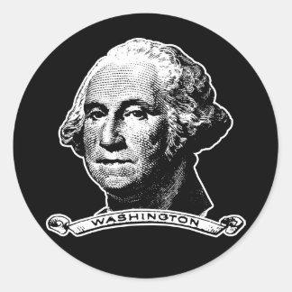 President George Washington Classic Round Sticker