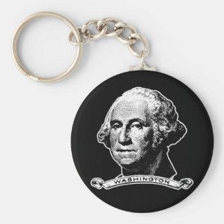 President George Washington Basic Round Button Keychain