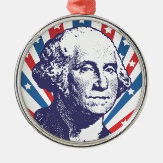 president George Washington Metal Ornament