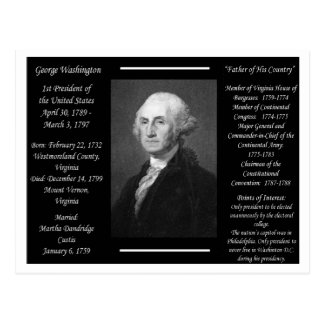 President George Washington Postcard